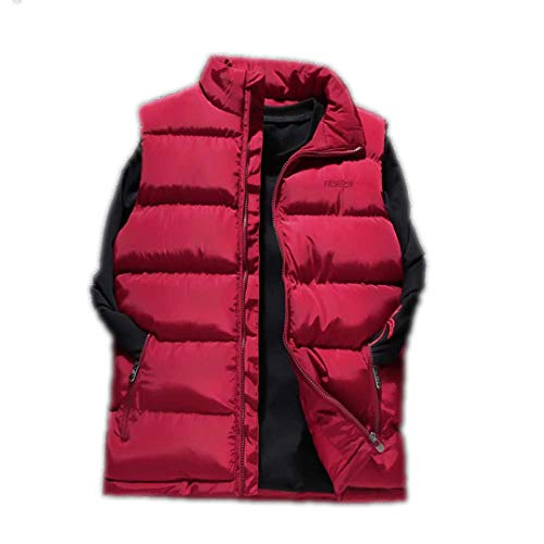 Slim Thick Red Sleeveless Solid Winter Down Mensto Windproof R Jacket Waistcoat Vest Warm nwv7XxqP4