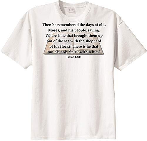 BibleShirts Isaiah 63:11 Short Sleeve T-Shirt White