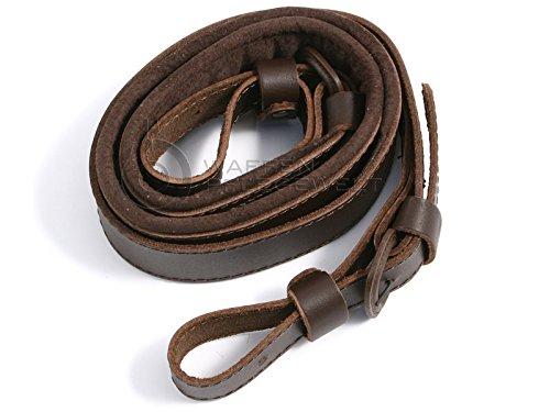 Hugger de fuerte de cuero con terciopelo de tapicería de cuero (105 cm de largo - 3, 2 cm de ancho) Ledermanufaktur