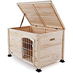 "Petsfit Indoor Wooden Pet/Dog/Cat House with Wire Door 31"" x 20"" x 20"""