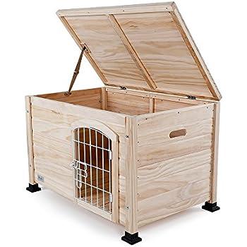 """Petsfit Indoor Wooden Pet/Dog/Cat House with Wire Door 31"""" x 20"""" x 20"""""""