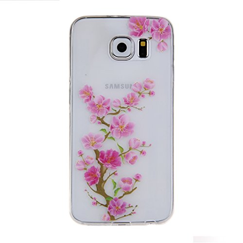 Galaxy S6 Edge Case,S6 Edge Clear Case Cover,Eforcase™ Protective Ultra Slim Funny Lovely Back Case for Samsung Galaxy S6 Edge,Clear Soft TPU Gel Rubber Skin Case Cover for Galaxy S6 Edge,Transparent Cute Adorable Cartoon Dolphins Bears Penguins Case Silicone Cover for Samsung S6 Edge (Wintersweet)