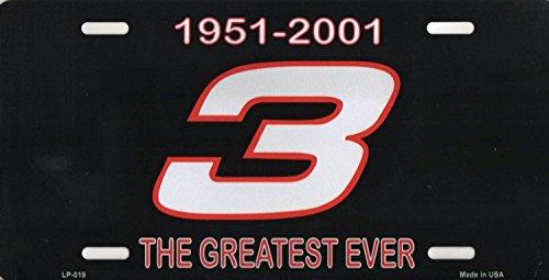 (Dale Earnhardt Sr. #3 Aluminum Metal Vanity License Plates (Greatest Ever 1951-2001) )