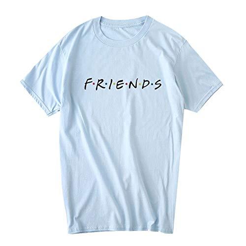 Erxvxp Women Cute T Shirt Junior Tops Teen Girls Graphic Printed T-Shirt (Sky Blue, Large)