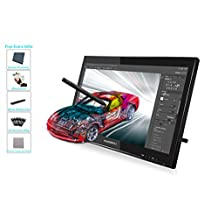 Huion GT-190 Pen Display Graphics Drawing Monitor for Professionals 2048 Levels Pressure Sensitivity 5080 LPI w/ Glove and Screen Protector
