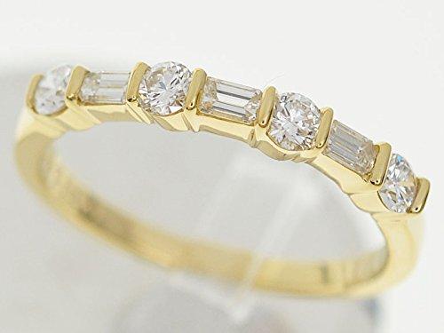 (ティファニー) TIFFANY&Co. ハーフサークル ラウンド バゲット ダイヤモンド バンドリング 750 K18 YG イエローゴールド 約9号 B0722KBCNQ