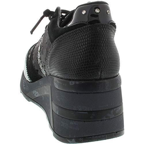 Noir pour Noir Femme Noir Cetti EU Baskets 36 PwAx77