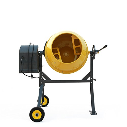 Sky Eternity 0.73HP Electric Cement Mixer, 4.5 Cubic Ft, 3/4HP Portable Concrete Mixer Barrow Machine Mixing Mortar