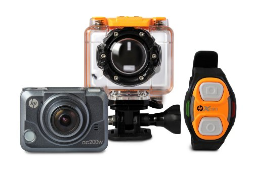 HP Action Cam ac200w Full HD 1080p Waterproof Camera with Wrist Remote (ac200w) by HP