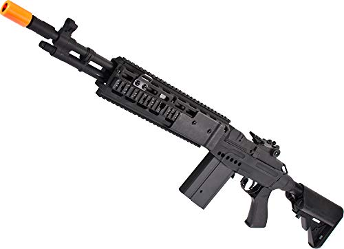 Evike CYMA Full Metal M14 EBR Designated Marksman Rifle Airsoft AEG (Color: Black/EBR Stock)