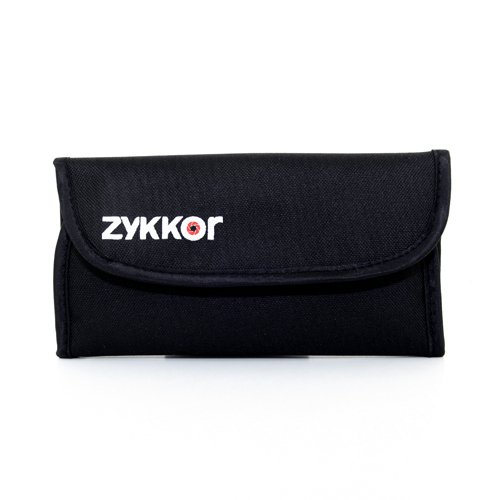 Zykkor Deluxe Professonal Filter Pouch for 4 Filters up to 77mm, Large