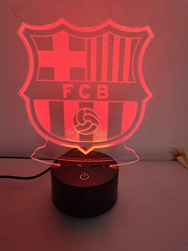 Barcelona Table Lamp - RTYHI Barcelona Badge 3D Night Lights 7 Color 3D Leads Night Lights USB Desk Lamp Soccer Home Decoration Bedroom Sleep Night Lights