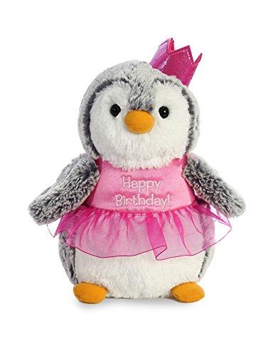 Aurora World Pompom Penguin Plush Toy Animal, Pompom Birthday -