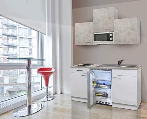 respekta - Cocina (150 cm, hormigón), Color Blanco: Amazon.es: Hogar