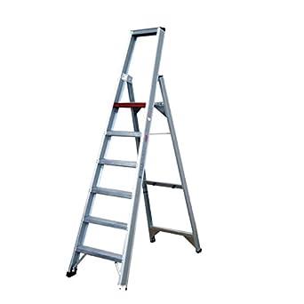 Altrex 0000490 Escalera de Aluminio para uso Industrial, Peldaño Ancho, Número de Peldaños: 1 x 8: Amazon.es: Industria, empresas y ciencia