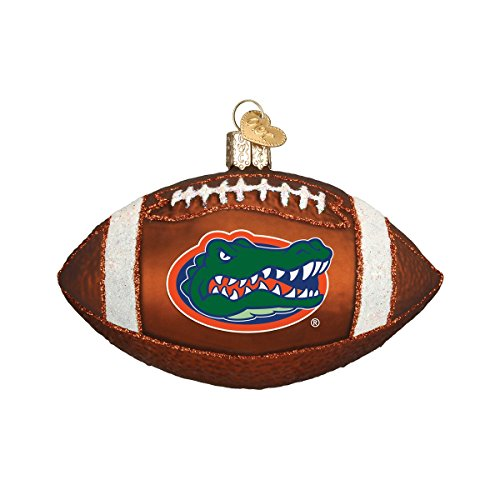 (Old World Christmas Ornaments: Florida Gators Football Glass Blown Ornaments for Christmas Tree)