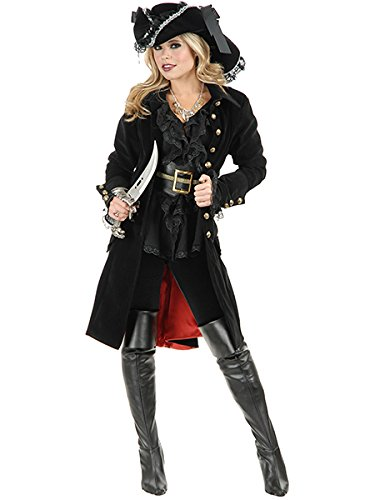 Charades Women's Pirate Vixen Jacket, Black, Small -