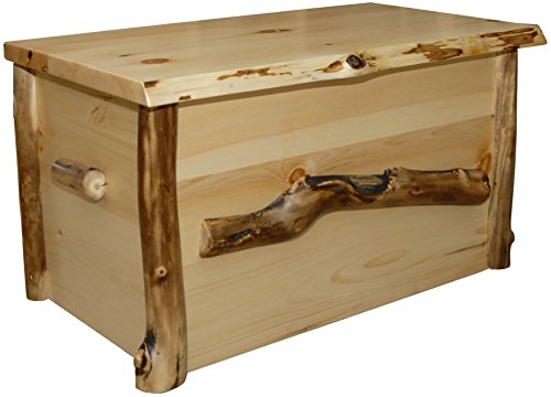 Furniture Barn USA Rustic Aspen Log Blanket Chest (Aspen Chest Log)