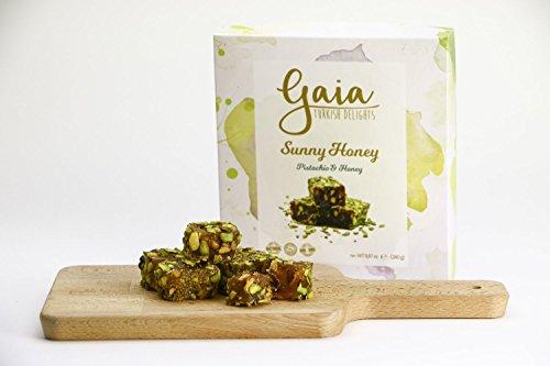 (Gaia Turkish Delights (Pistachio, Honey) Sunny Honey Healthy Snacks Candy Dessert)