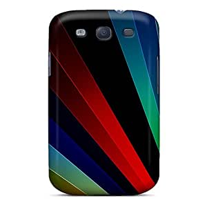 High Quality Shock Absorbing Case For Galaxy S3-abstract Bright Strips