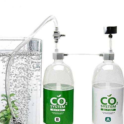 Rhinox DIY Pressurized CO2 System, CO2 Generator Kit, Includes Caps, Valves, 3-Way Connector, Tubing and Pressure Gauge, Creates a Healthy Underwater Habitat for Aquatic Pets and Plant (Small Aquarium Co2)