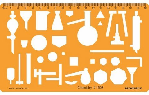 FineArt Chemistry Chemical Engineering Science Drafting and Design Template Stencil Symbols Technical Drawing Scale by FineArt