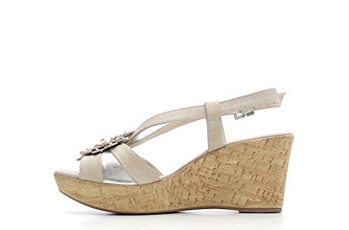 Nero Giardini femme Sandale compensée en cuir Item P615851D 707 Blanc P6 P6 15851 D 15851 D