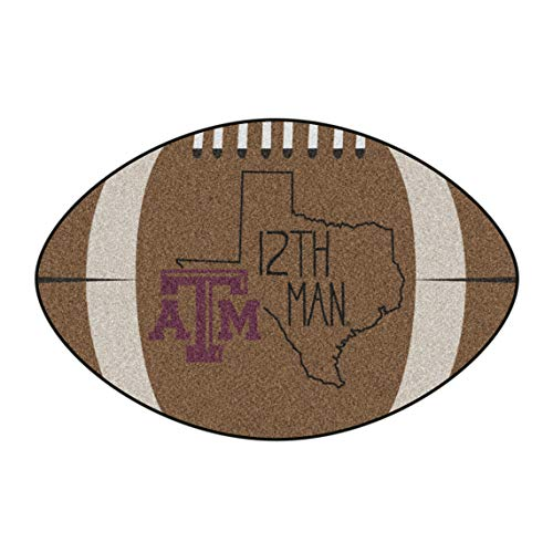 NCAA Texas A&M University Aggies Football Shaped Mat Area -