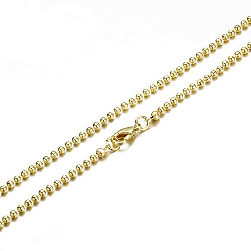 - Wholesale 12PCS Gold Plated Brass Bead Ball Chains Bulk for Jewelry Making 18-24 Inches (18