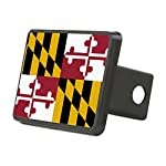 CafePress – State Flag Of Maryland – Trailer Hitch Cover, Truck Receiver Hitch Plug Insert