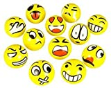 Emoji Face Squeeze Balls- 24 ~ 3'' Stress Relax Emotional Toy Balls ~ Great Office Holiday Idea ~ Stocking Stuffer ~ Gag Toy (24 Pack)