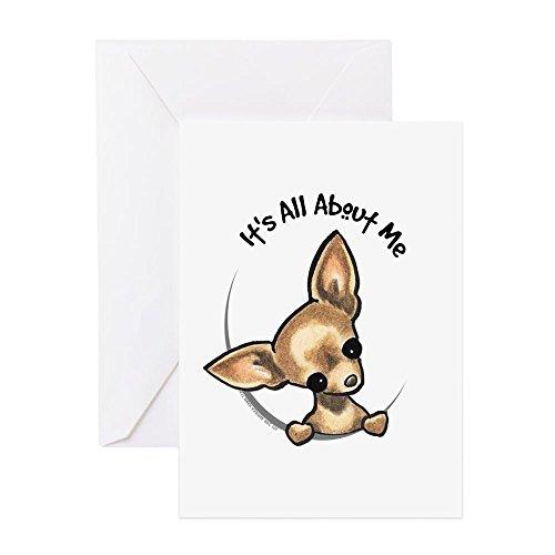 CafePress Tan Chihuahua IAAM Greeting Card, Note Card, Birthday Card, Blank Inside Glossy