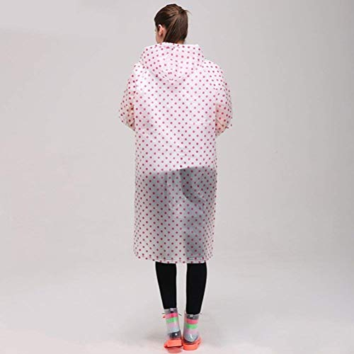 Pois Casual Points En Pluie Vêtements Portable Rouge Pliable De La Unisexe Imperméable L'eau Dame Air À Plein Transparent Mode XPqOq
