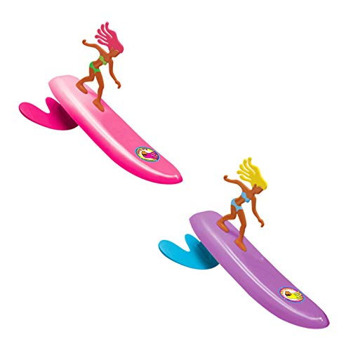 Surfer Dudes Wave Powered Mini-Surfer and Surfboard Beach Toy - 2 Pack - Bobbi and Alice