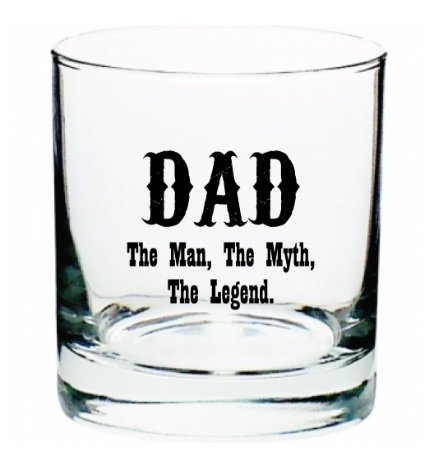 DAD The Man, The Myth, The Legend 10 oz Old Fashioned Liquor Whiskey on the Rocks - T-shirt Rock Legend