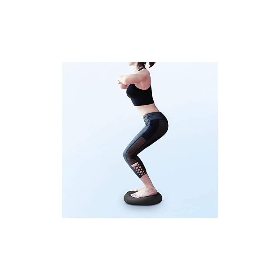 CPOKOH Balance Cushions,Wobble Cushion,Balance Disc,Wobble Seat,35cm Air Stability Core Trainer,Balance Boards,Fitness Stability Pad