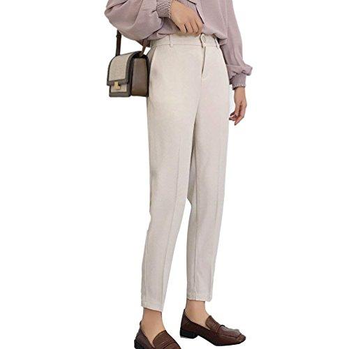 Harem Taille Haute Noir Printemps Couleur Élégant Automne Femme Beige Loisir Marque Pure Poches Slim Casual Mode Jogging Avec Fit Pantalon Pw78SqUU