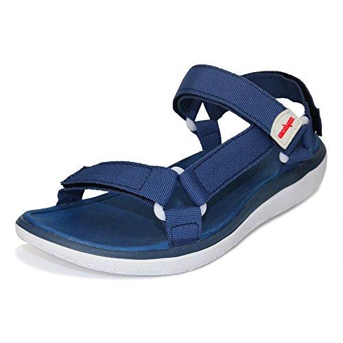 GRITION Sandales Décontractées pour Femmes Sans Odeur à Séchage Rapide avec Semelle Légère et Souple Bleu/Blanc 4KrB2