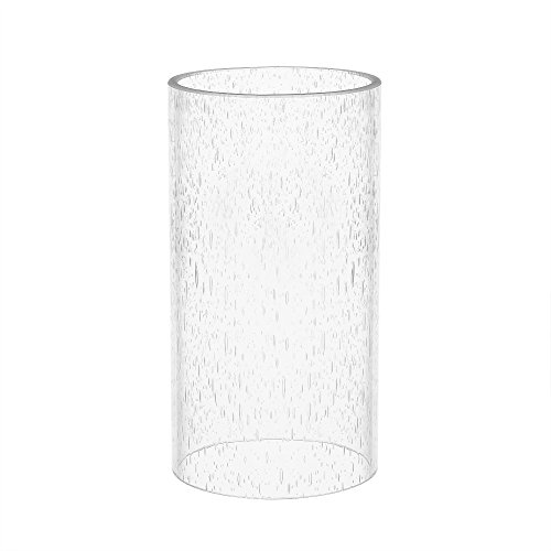 Eumyviv A00002 Straight Cylinder Clear Bubble Glass Lamp Shade - Glass Chandeliers Lamp Shades
