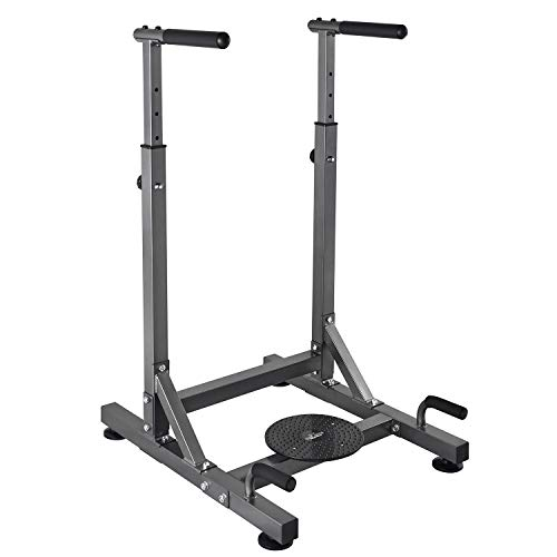 RELIFE REBUILD YOUR LIFE Dip Station Power Tower Exercise Training Parallel Bar Ab Workout Sports Equipment Dip Stands for Home Gym (Seated Dip Machine)