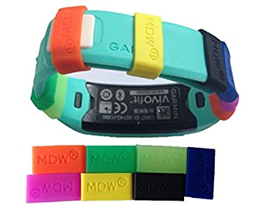 MDW 7 pack Secure Silicon Fastener Ring for Garmin Vivofit to Fix the Band Clasp Fall Off Problem,dont Lose Your Garmin Vivofit! Only the Fastener Ring Not Include Replacement Wristband