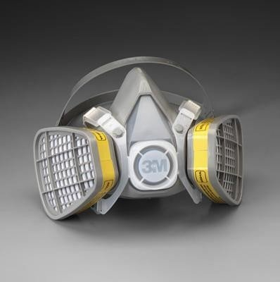 - 3M Medium Thermoplastic Elastomer Series 5000 Half Mask Organic Vapor/Acid Gas Disposable Air Purifying Respirator