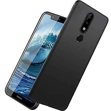 timeless design d2d3f 13f2a Tarkan Royal Ultra Slim Flexible Soft Back Case Cover for Nokia 6.1  Plus/Nokia 6 Plus [Matte Black] 360 Degree Full Coverage with Camera  Protection