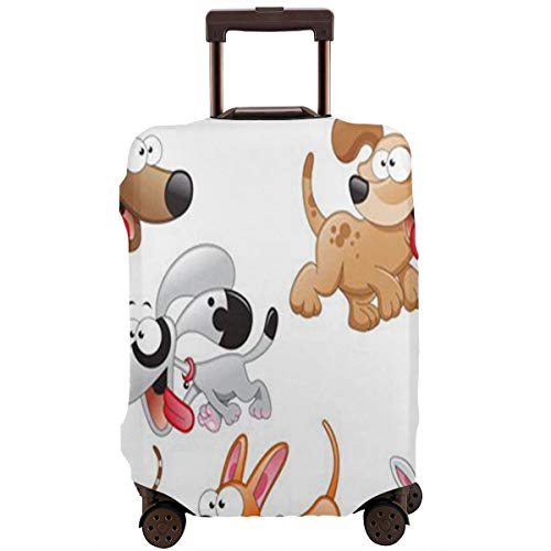 Luggage Cover Dogs Cartoons Fantastic Travel Suitcase Cover Protector Bag Dustproof Washable Fits 18-32 Inch Luggage ()
