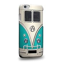 "Case88 Premium Designs Cyan Retro Volkswagen Mini Van VW Bus Protective Snap-on Hard Back Case Cover for Apple iPhone 6 4.7"""