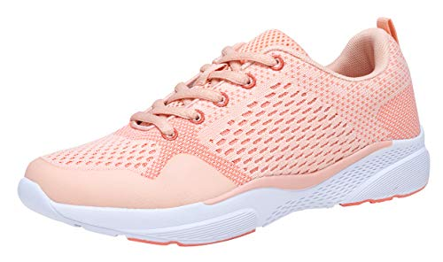 - COODO CD8005 Women's Athletic Shoes Casual Breathable Sneakers New Pink-8.5