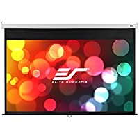 Elite Screens Manual SRM Pro, 84-inch 16:9, Slow Retract Pull Down Projection Manual Projector Screen, M84HSR-Pro