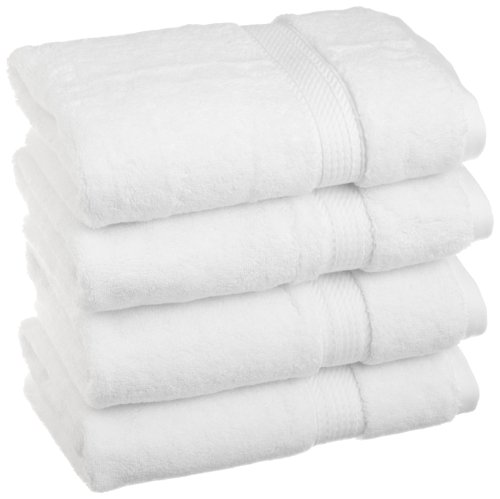 Superior 900 Gsm Luxury Bathroom Hand Towels  Made Of 100  Premium Long Staple Combed Cotton  Set Of 4 Hotel   Spa Quality Hand Towels   White  20  X 30  Each