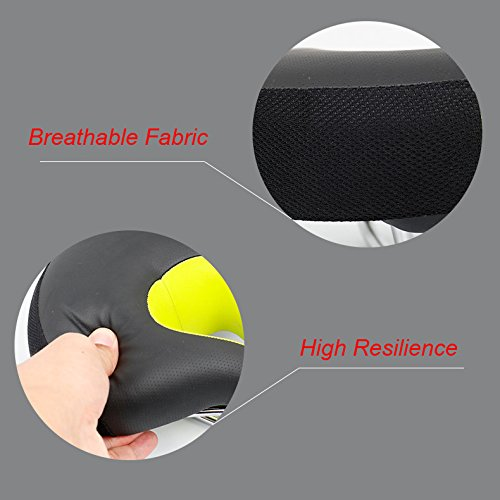 Zisen Wide Bike Saddle Seat Noseless High Resilience MTB Large Bicycle Seats Comfortable Outdoor Sports Cycling Pad Cushion for Women & Men Black by Zisen (Image #5)