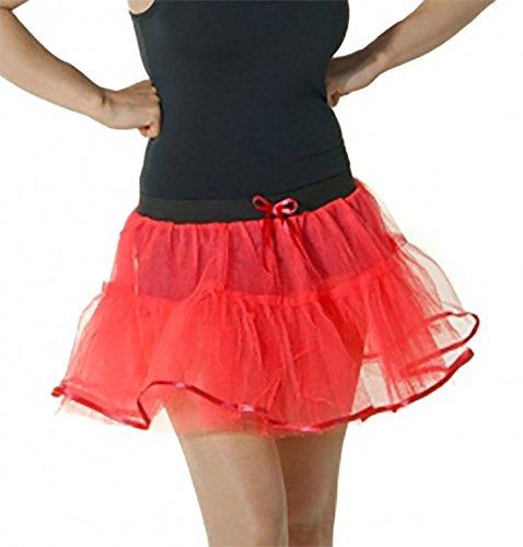 21fashion Red Unique Uni Taille Femme Noir Jupe n1WaBwq1v